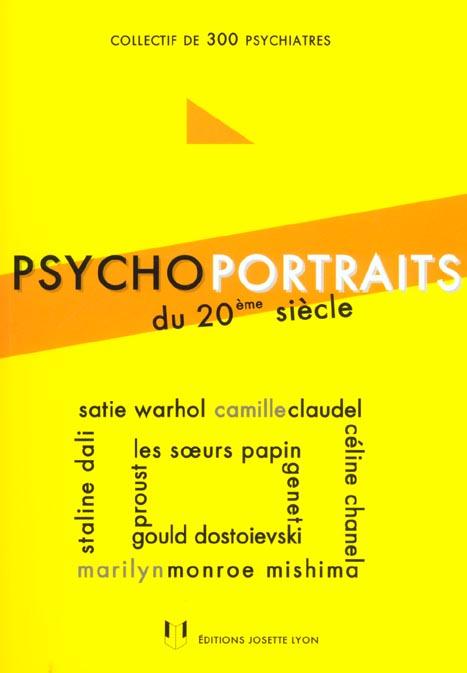 Psychoportraits du 20eme siecle