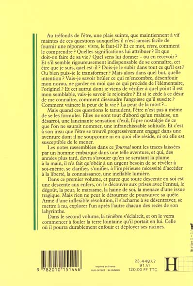 Journal t.1 ; ténèbres en terre froide (1957-1964)