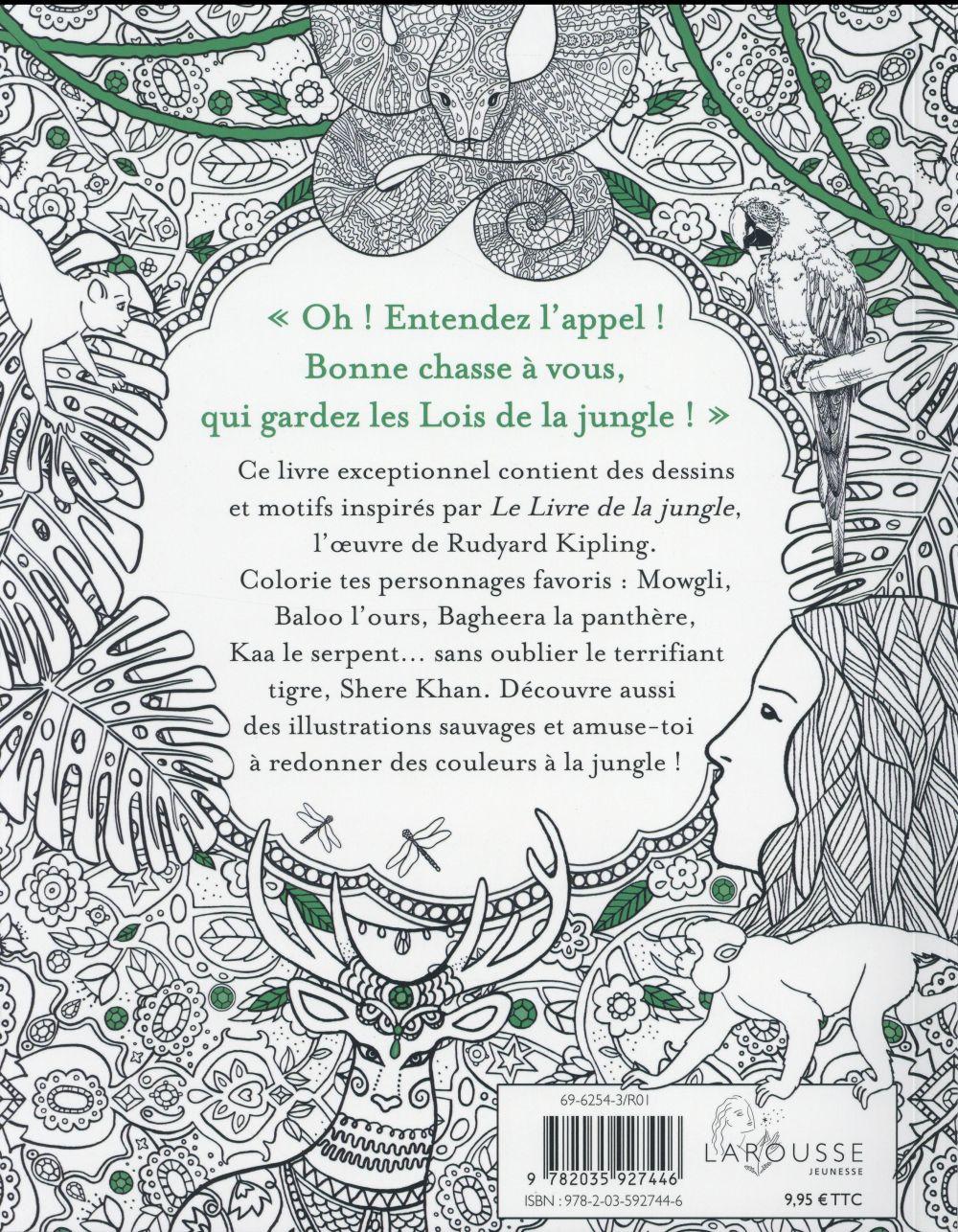 Le livre de la jungle ; un livre à colorier