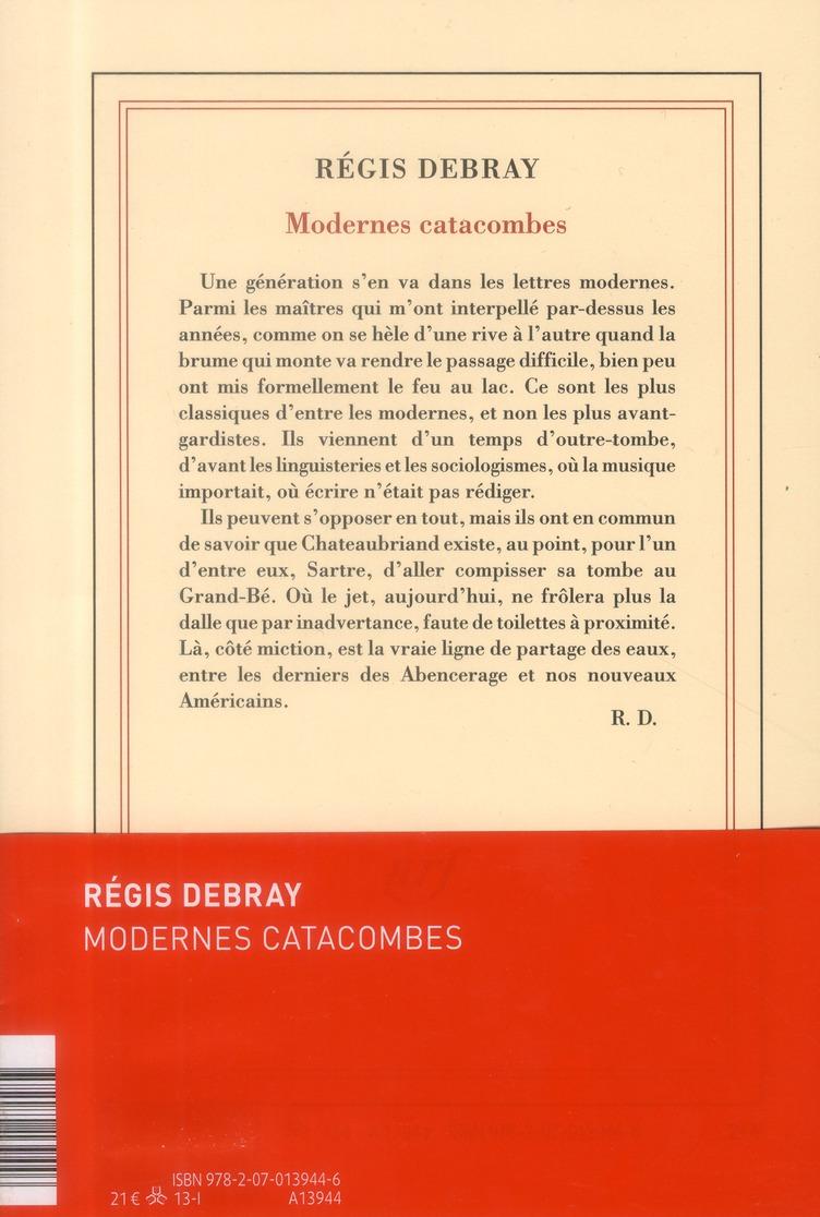 modernes catacombes