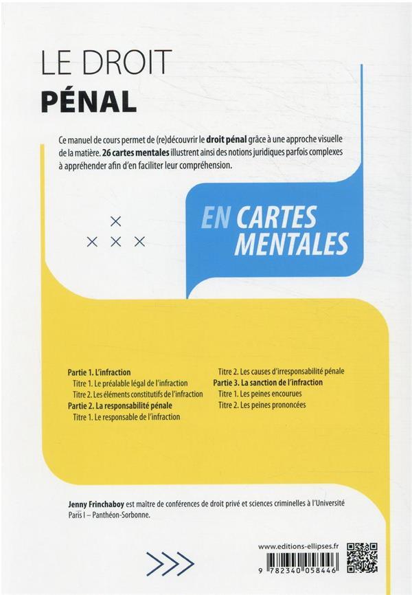 le droit pénal en cartes mentales