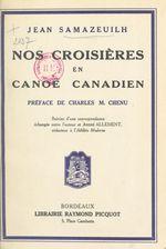 Nos croisières en canoë canadien