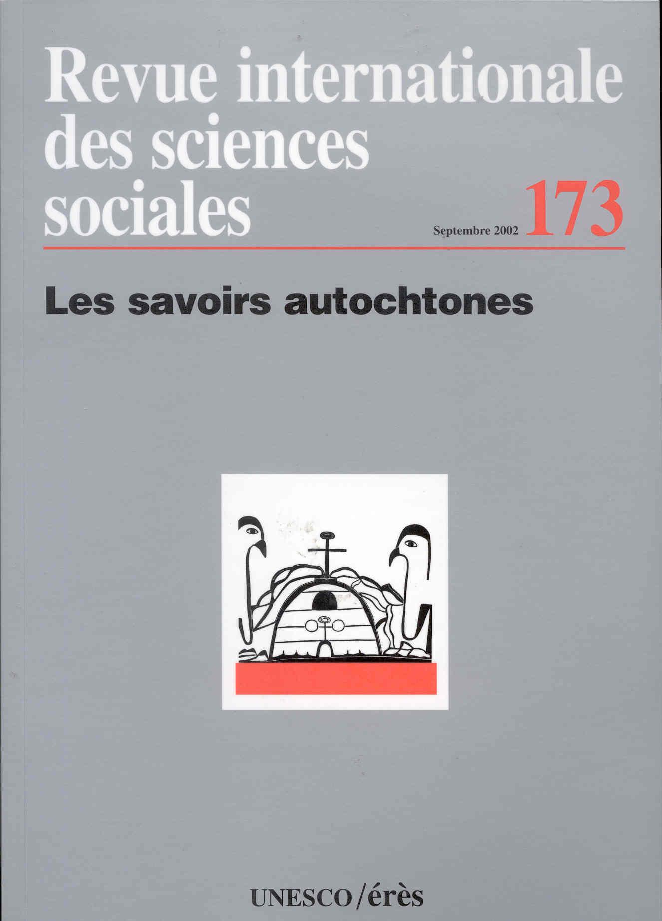 Revue riss t.173; les savoirs autochtones