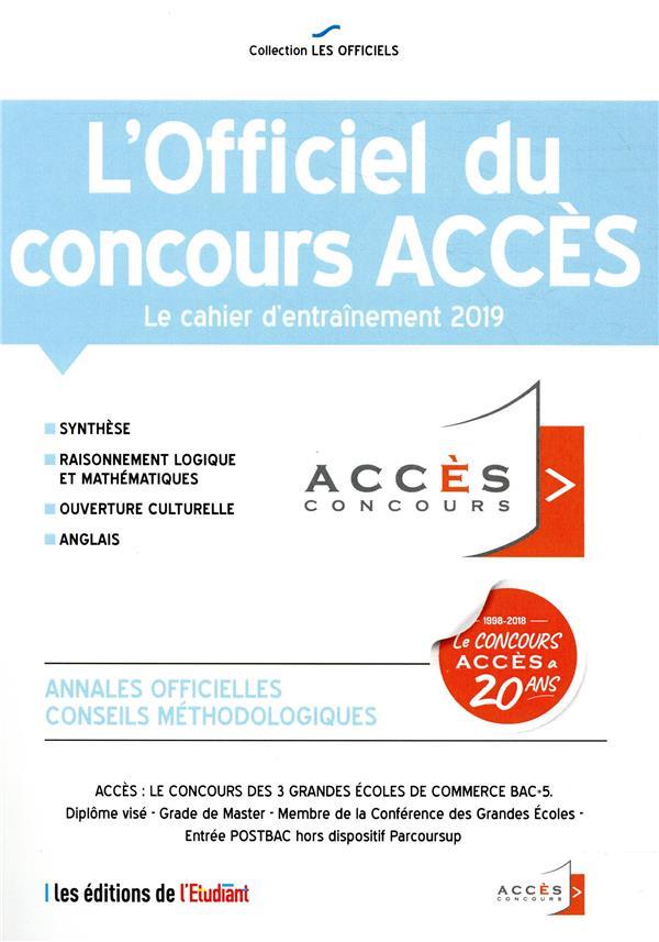 L'officiel du concours Accès (édition 2019)