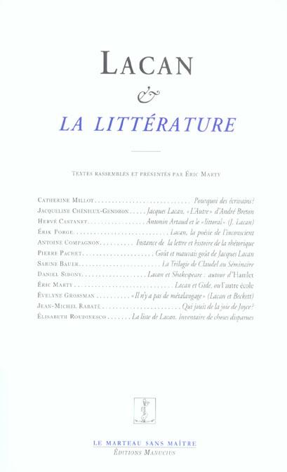 Lacan et la litterature