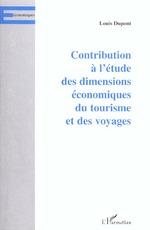 Vente Livre Numérique : CONTRIBUTION À L'ÉTUDE DES DIMENSIONS ÉCONOMIQUES DU TOURISM  - Louis Dupont