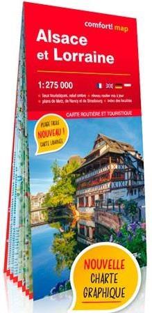 Alsace et Lorraine 1/275.000 carte grand format