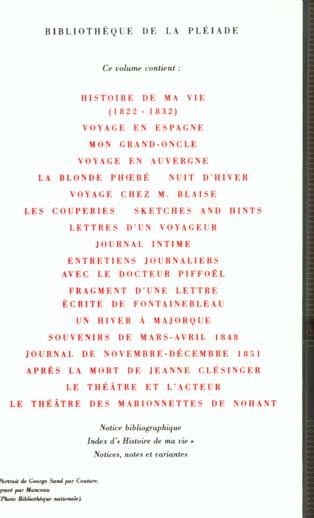 oeuvres autobiographiques - vol02 - histoire de ma vie (1822-1832) - lettres d'un voyageur - un hive