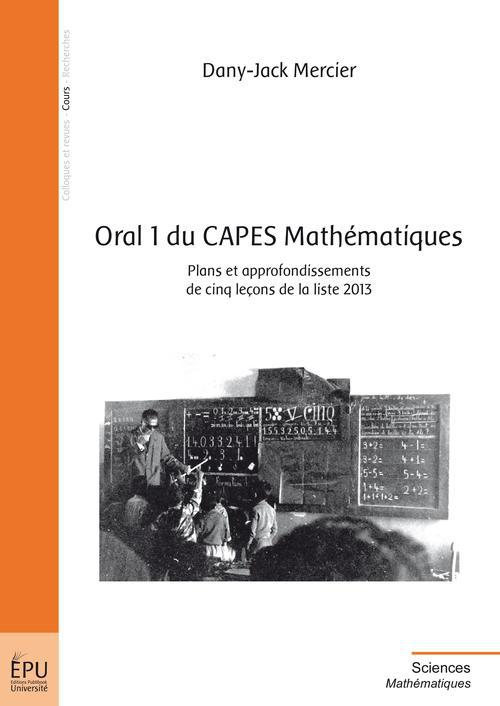 oral 1 du CAPES mathématiques