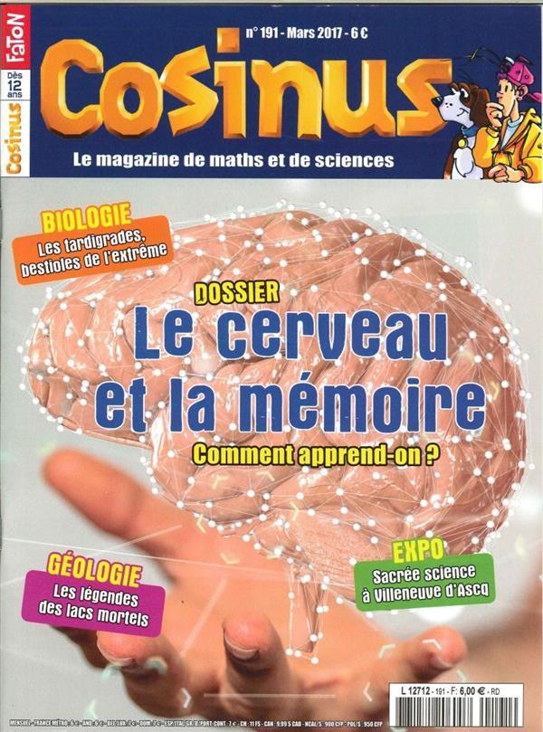 Cosinus n 191 le cerveau et la memoire mars 2017
