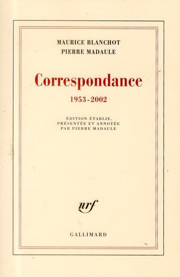 Correspondance 1953-2002