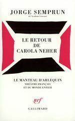 Vente EBooks : Le Retour de Carola Neher  - Jorge Semprun