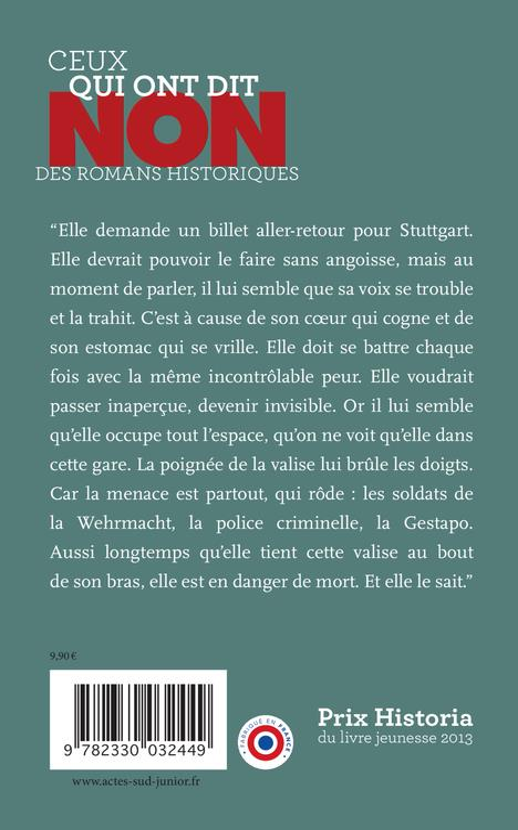 Sophie Scholl ; non à la lâcheté