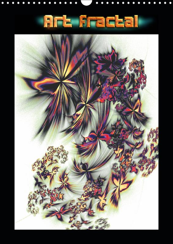 Art fractal (calendrier mural 2019 din a3 vertical) - art fractal numerique (calendrier mensuel, 14