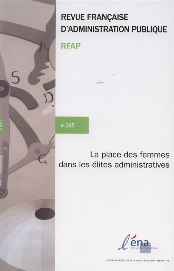 Les femmes dans les élites administratives ; RFAP t.145