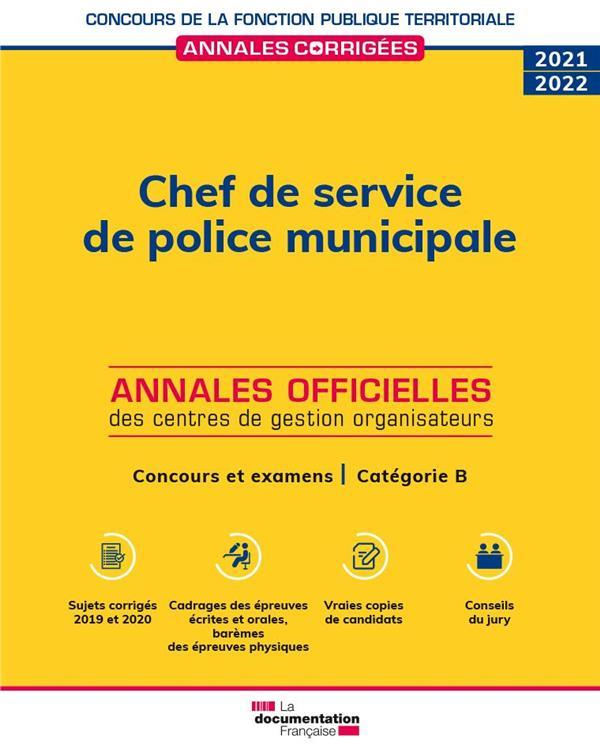 chef de service de police municipale 2021 : concours et examens