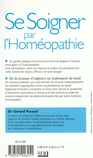 Se soigner seul par l'homeopathie