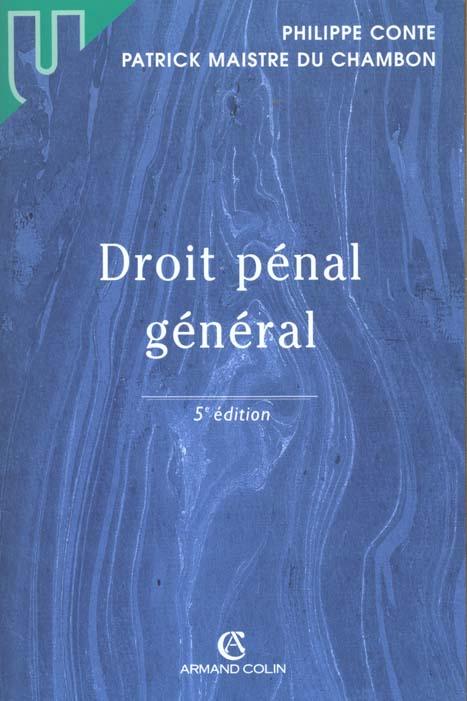 Droit penal general ; 5e edition