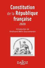 Vente Livre Numérique : Constitution de la République française. 2020 - 17e éd.  - Ferdinand Mélin-Soucramanien