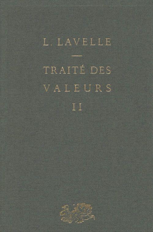 Traité des valeurs (2)