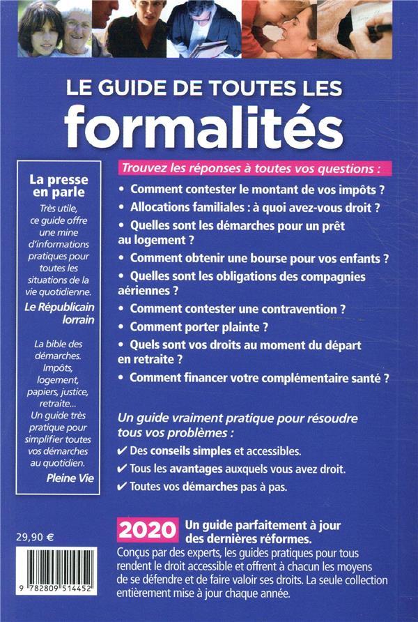 Le guide de toutes les formalités (édition 2020)