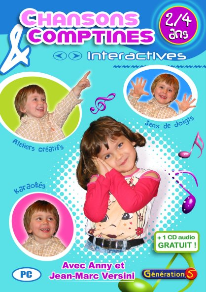 Chansons et comptines interactives ; 2-4 ans