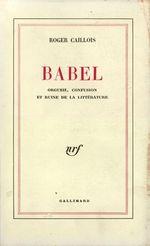 Vente Livre Numérique : Babel  - Roger Caillois