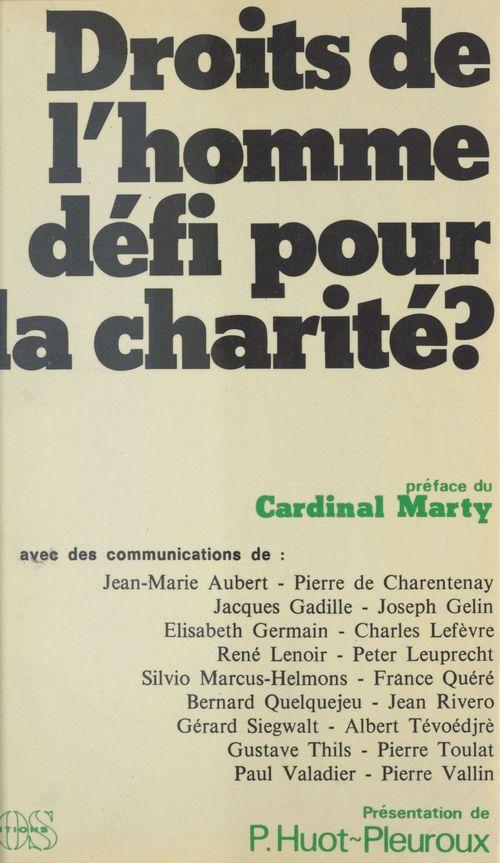 Droits de l'homme, défi pour la charité ?