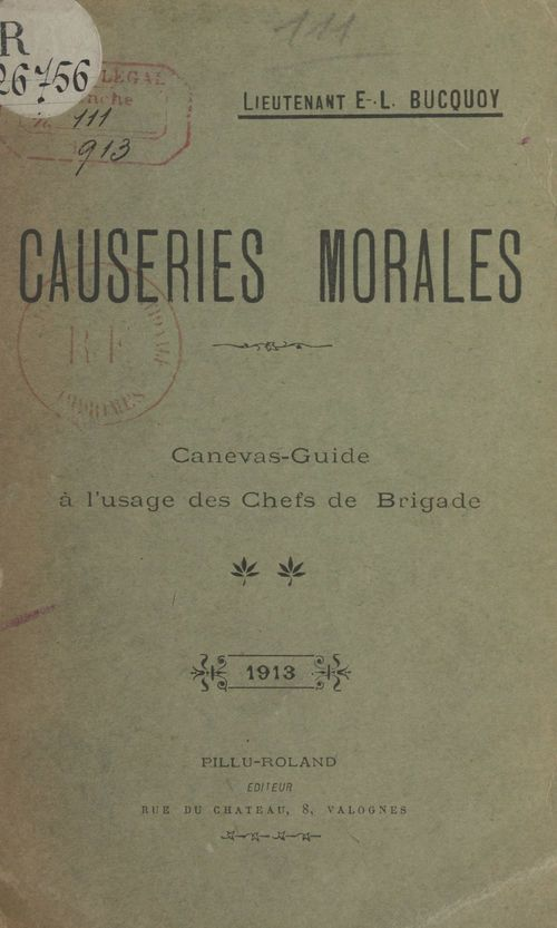 Causeries morales