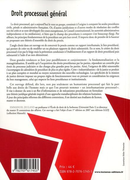 Droit processuel général (2e édition)