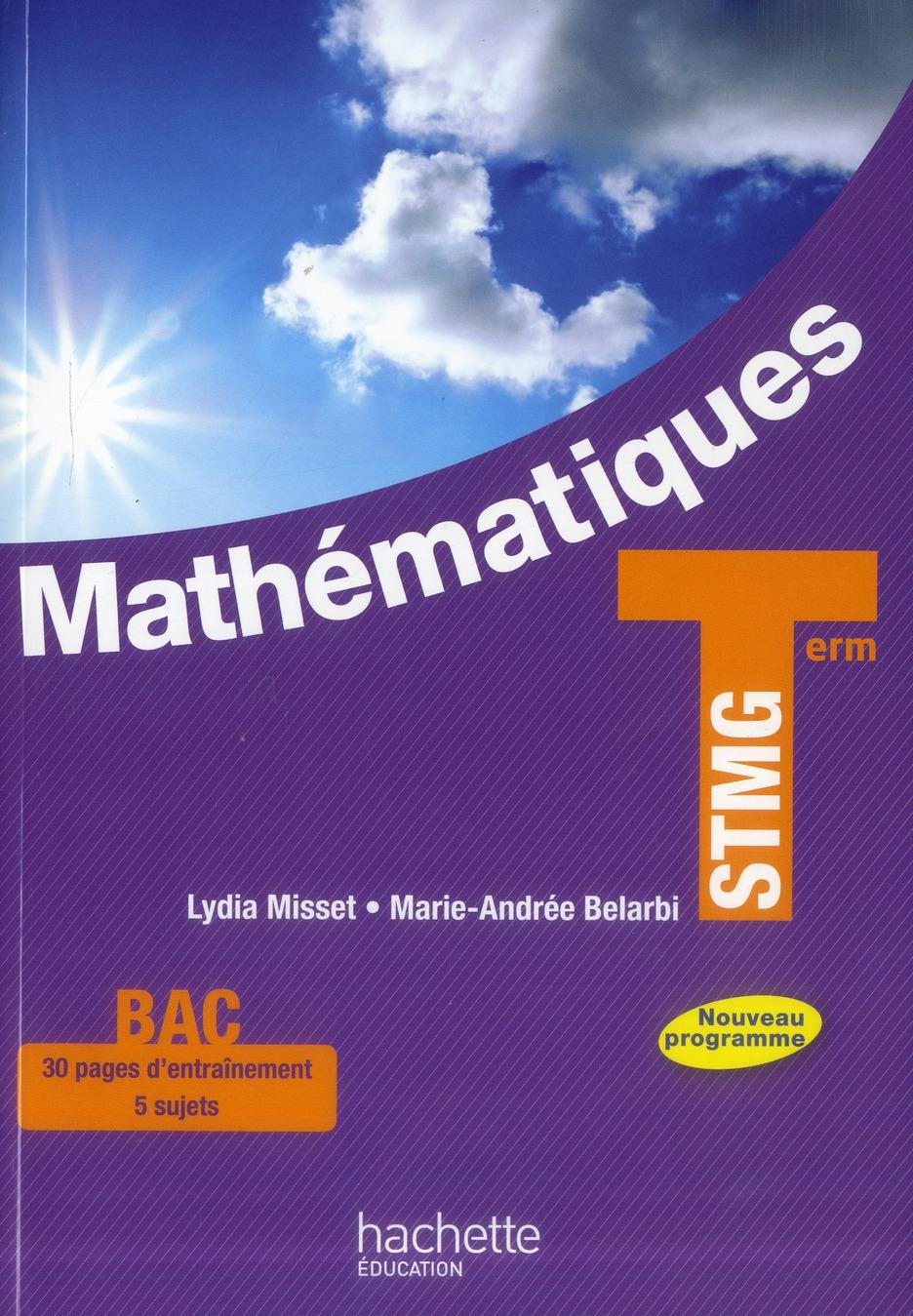 Mathématiques ; terminale STMG ; livre de l'élève
