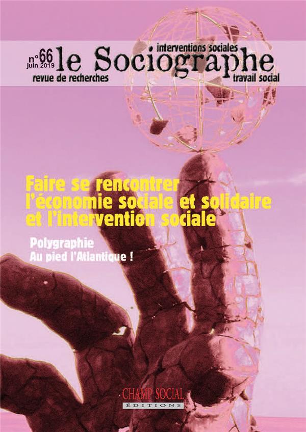 Le sociographe n.66 ; faire se rencontrer l'economie sociale et solidaire et l'intervention sociale