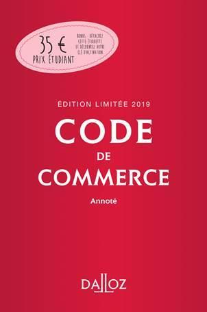 Code de commerce annoté (édition 2019)