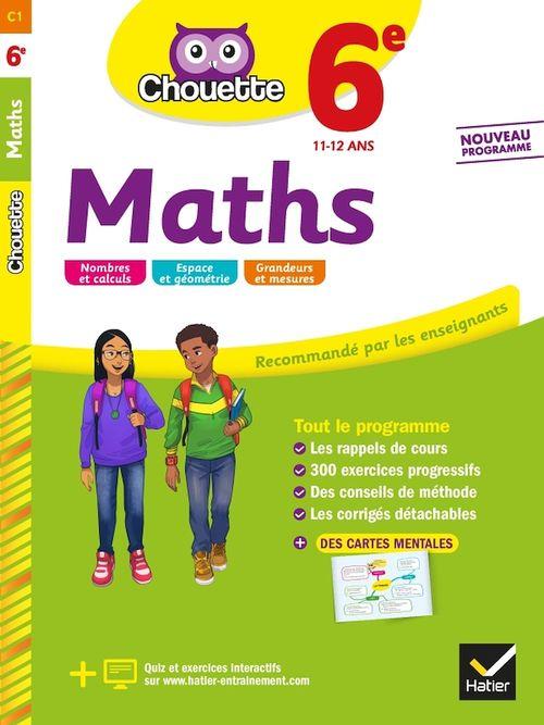 Chouette entraînement T.1 ; maths ; 6e ; cahier d'entraînement et de révision