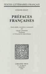 Préfaces françaises  - Étienne Dolet