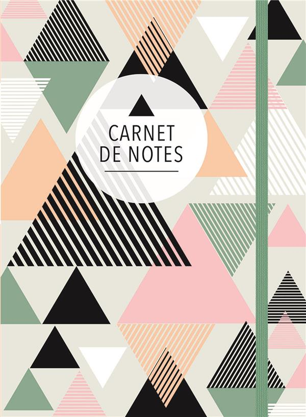 Carnet de notes (grand) ; triangles