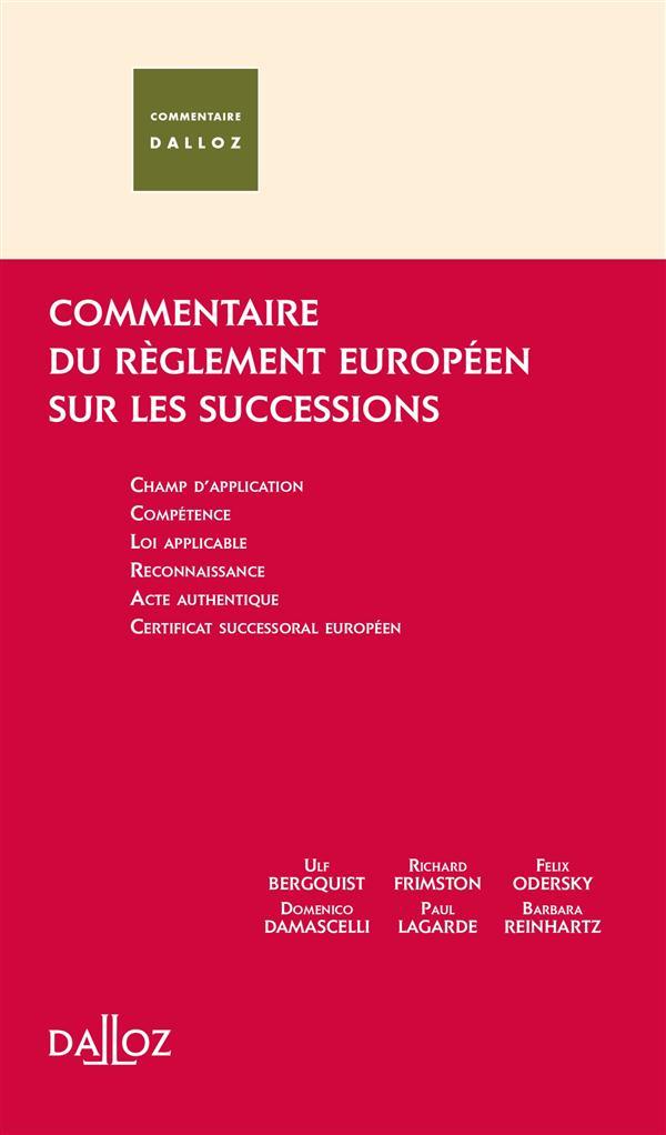 Règlement UE sur les successions transnationales