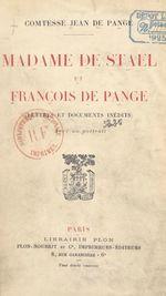 Madame de Staël et François de Pange