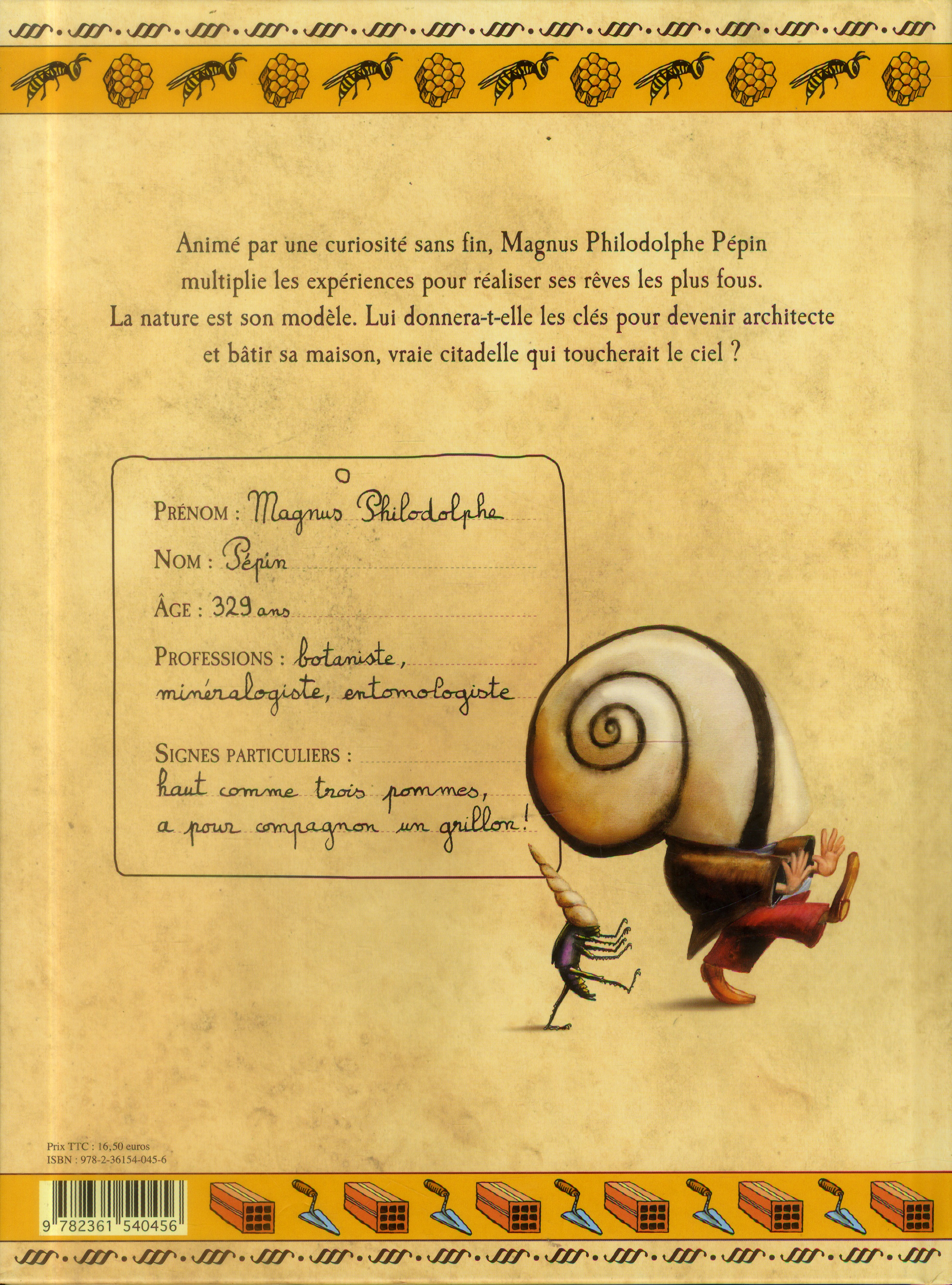 Un toit pour moi ; carnet de curiosités de Magnus Philodolphe Pépin