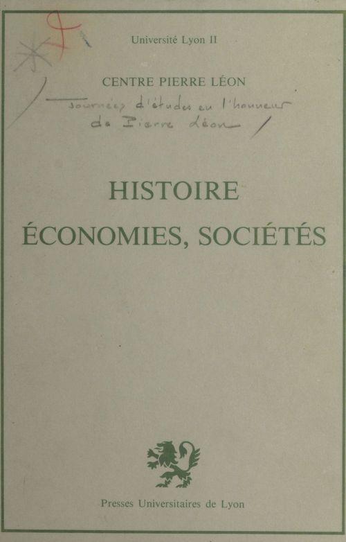 Histoire, économies, sociétés