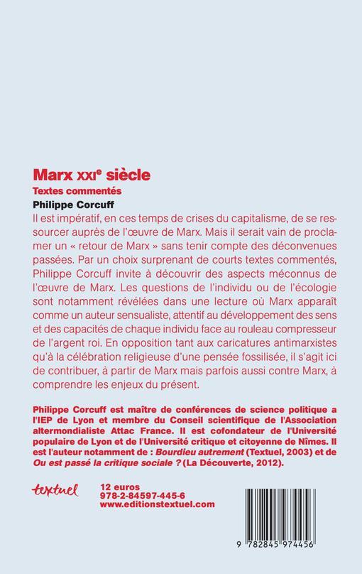 Marx XXIe siècle ; textes commentés
