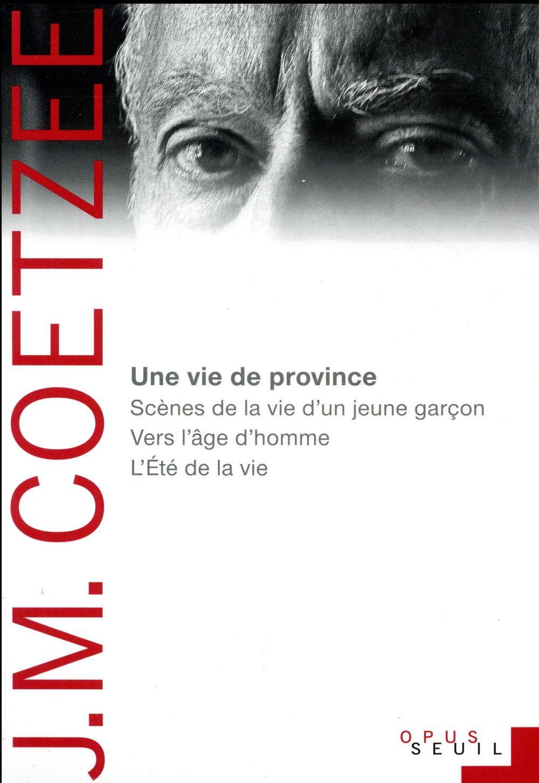 UNE VIE DE PROVINCE COETZEE J.M.