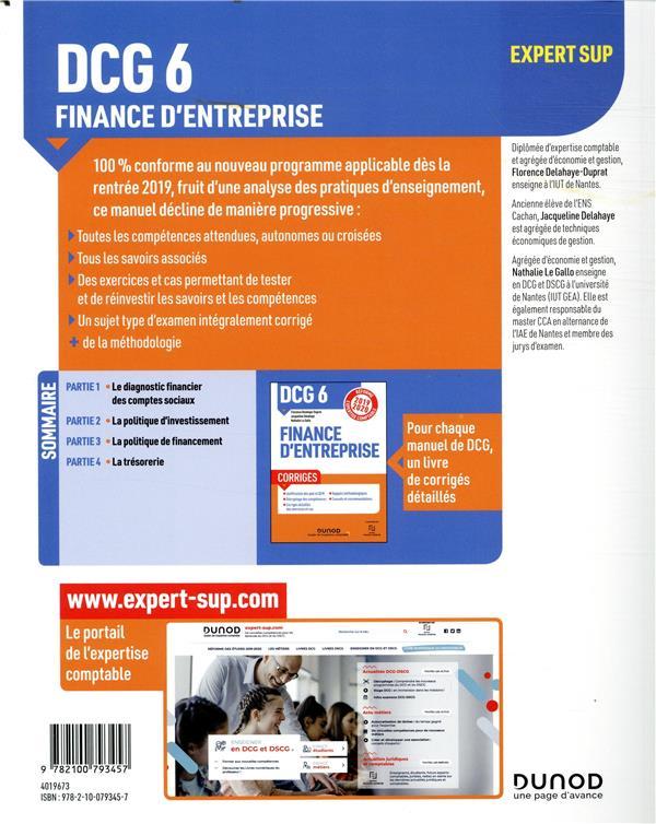 DCG 6 - finance d'entreprise - manuel - réforme expertise comptable
