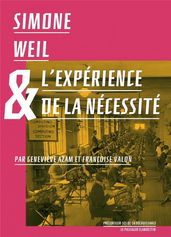 Simone Weil et l'expérience de la nécessité