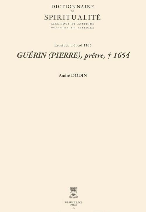 GUÉRIN (PIERRE), prêtre, + 1654