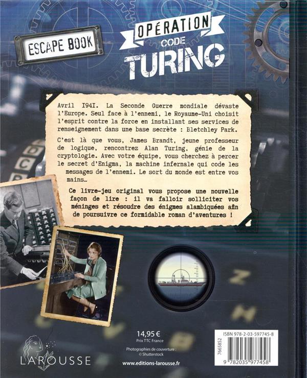 Escape book ; opération code Turing