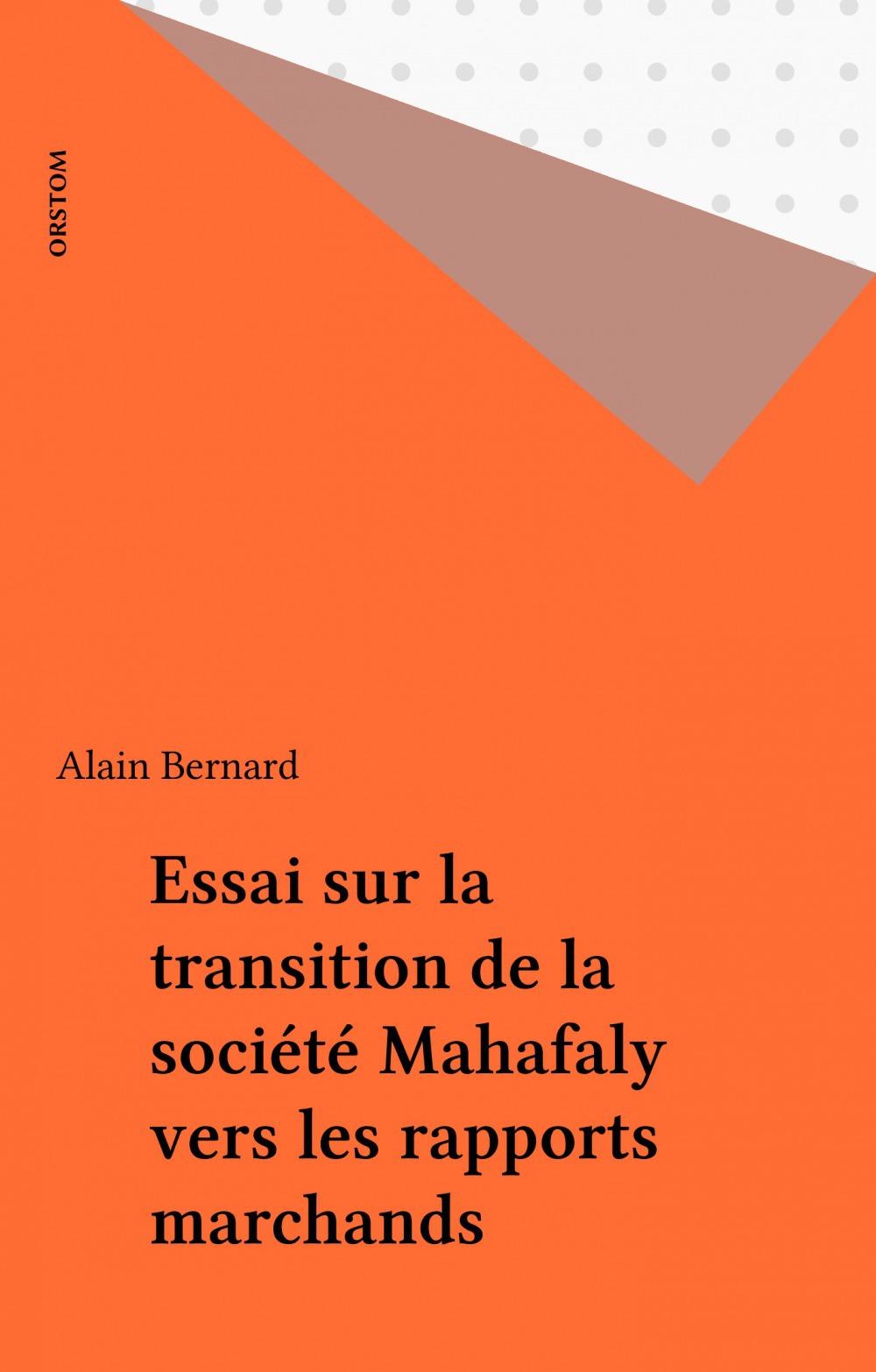 Essai de la transition de la societe mahafaly