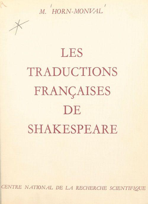 Les traductions françaises de Shakespeare