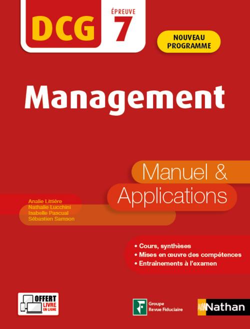 DCG épreuve 7 ; management ; manuel et applications (édition 2020)