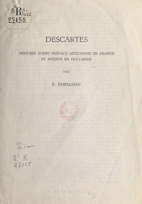 Descartes  - Paul Ehrmann